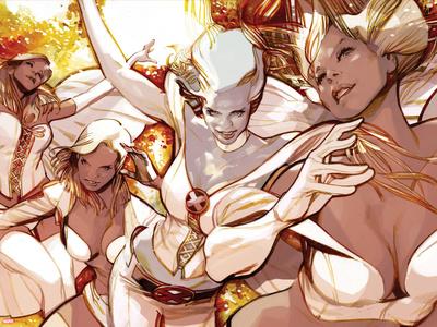 X-Men Evolutions No.1: Emma Frost Plastic Sign by Greg Tocchini
