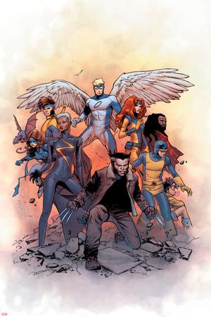 X-Men: Gold 1 Cover: Lockheed, Shadowcat, Storm, Angel, Grey, Jean, Bishop, Cyclops, Jubilee Wall Decal by Olivier Coipel