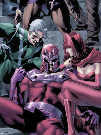 Magnetro: Not a Hero No.2 Cover: Magneto, Scarlet Witch, and Quicksilver Sitting Wall Decal by Clay Mann
