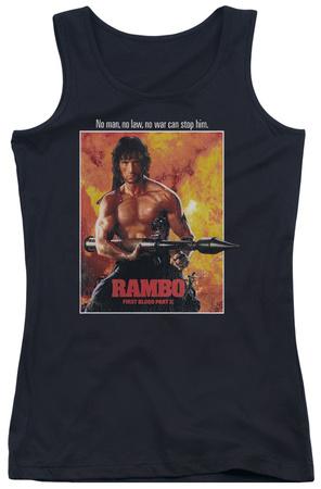 Juniors Tank Top: Rambo First Blood II - Poster Tank Top