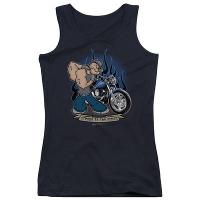 Juniors Tank Top: Popeye - Biker Popeye Tank Top