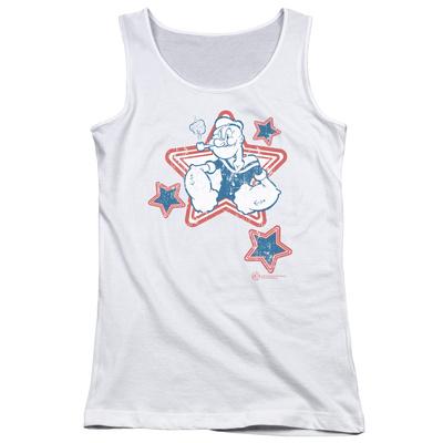 Juniors Tank Top: Popeye - Stars Tank Top