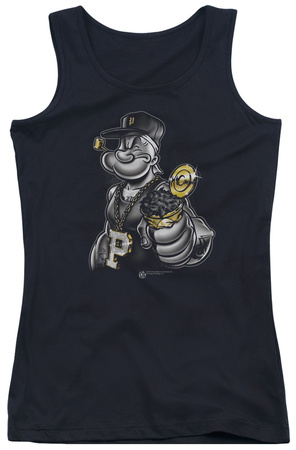 Juniors Tank Top: Popeye - Get More Spinach Tank Top