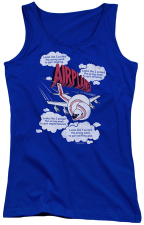 Juniors Tank Top: Airplane - Picked The Wrong Day Tank Top