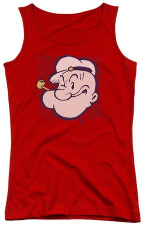 Juniors Tank Top: Popeye - Head Tank Top