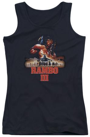 Juniors Tank Top: Rambo III - French Poster Tank Top