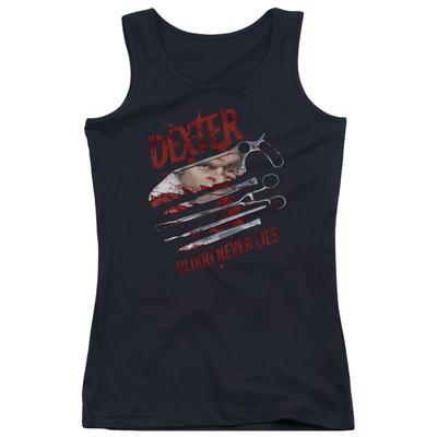Juniors Tank Top: Dexter - Blood Never Lies Tank Top