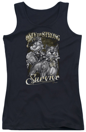 Juniors Tank Top: Popeye - Only The Strong Tank Top