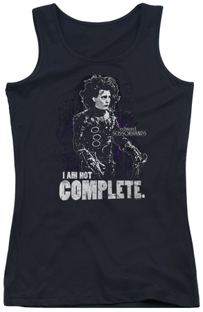 Juniors Tank Top: Edward Scissorhands – Not Complete Tank Top