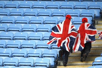 British Fans Arrive for the Women's Quarterfinal Soccer Match Featuring Britian Against Canada Photographic Print by Alessandro Garofalo