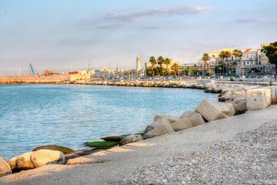 Embankment of Bari Italy Hdr Photographic Print by  alexvav