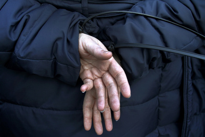 An Occupy Des Moines Protester's Hands are Zip Tied after She Was Arrested Photographic Print by Joshua Lott