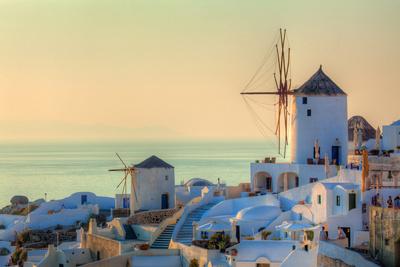 Santorini at Golden Hour Photographic Print by  EvanTravels