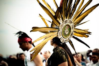 Native Aztec Dance Performance Photographic Print by  EvanTravels