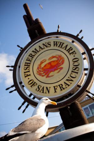 Fishermans Wharf Sign - San Francisco, California USA Photographic Print by  EvanTravels