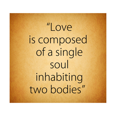 Quote of Love from Aristotle Posters by Egyptian Studio