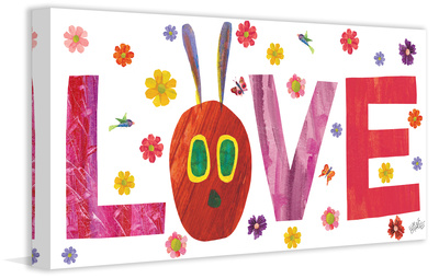 Caterpillar Love 2 Print on Canvas Gallery Wrapped Canvas by Eric Carle