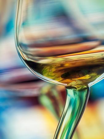 Vino blanco Lámina en metal