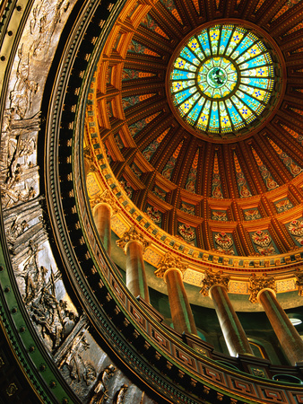 Interior of Rotunda of State Capitol Building, Springfield, United States of America Metal Print by Richard Cummins