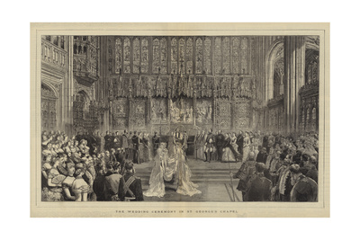 The Wedding Ceremony in St George's Chapel Giclee Print by Adrien Emmanuel Marie