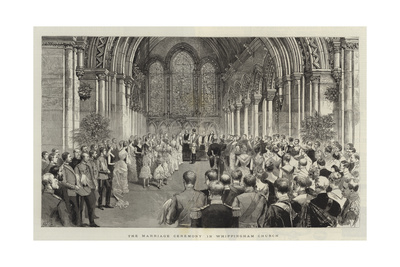 The Marriage Ceremony in Whippingham Church Giclee Print by Adrien Emmanuel Marie