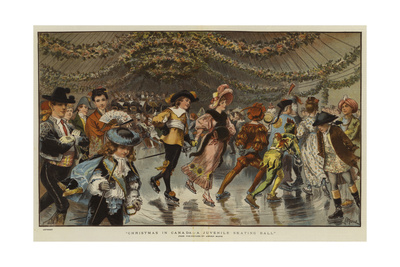 Christmas in Canada, a Juvenile Skating Ball Giclee Print by Adrien Emmanuel Marie