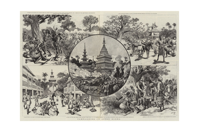 Campaigning in Upper Burma Giclee Print by Adrien Emmanuel Marie