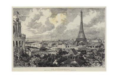 The Paris Exhibition Giclee Print by Adrien Emmanuel Marie