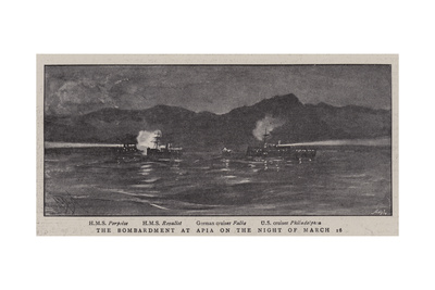 The Bombardment at Apia on the Night of 16 March Giclee Print by Alexander Stuart Boyd