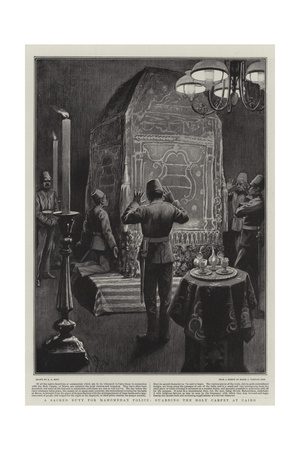 A Sacred Duty for Mahomedan Police, Guarding the Holy Carpet at Cairo Giclee Print by Alexander Stuart Boyd