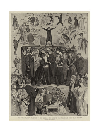 Miss Nelly Farren's Farewall to the Public, the Benefit Performance at Drury Lane Theatre Giclee Print by Alexander Stuart Boyd