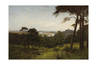 Arundel, Early Morning Giclee Print by Alfred East
