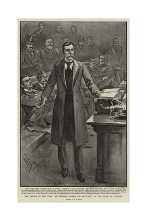 The Reform of the Army, Mr Rrodrick Making His Statement in the House of Commons Giclee Print by Alexander Stuart Boyd