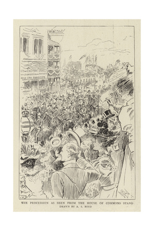 The Procession as Seen from the House of Commons Stand Giclee Print by Alexander Stuart Boyd