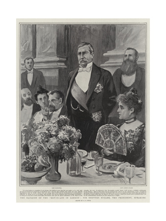 The Banquet of the Devonians in London, Sir Redvers Buller, the President, Speaking Giclee Print by Alexander Stuart Boyd