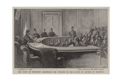 The Trial of Eighteen Armenians for Murder in the Court of Justice at Stamboul Giclee Print by Alexander Stuart Boyd