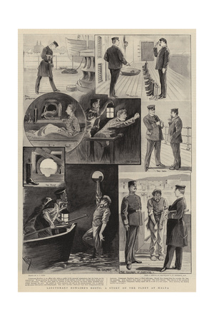Lieutenant Bowline's Boots, a Story of the Fleet at Malta Giclee Print by Alexander Stuart Boyd