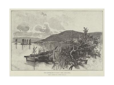 The Earthquake in Japan, Otsu, Lake Biwa Giclee Print by Alfred East