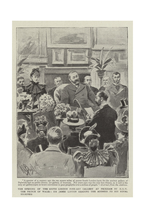 The Opening of the South London Fine-Art Gallery at Peckham by Hrh the Prince of Wales Giclee Print by Alexander Stuart Boyd