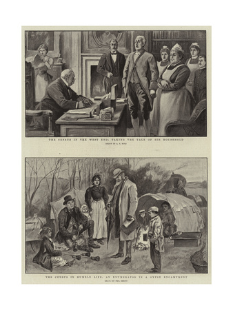 The Census in the West End Giclee Print by Alexander Stuart Boyd