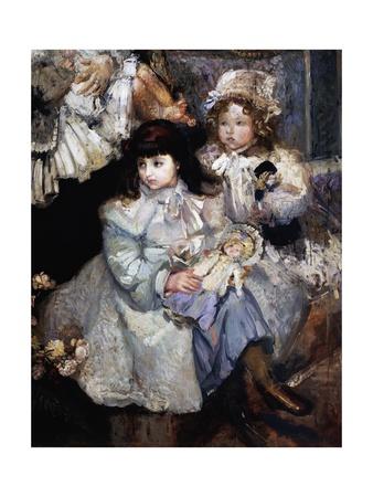 De Carolis' Wife and Children, 1908 Giclee Print by Armando Spadini