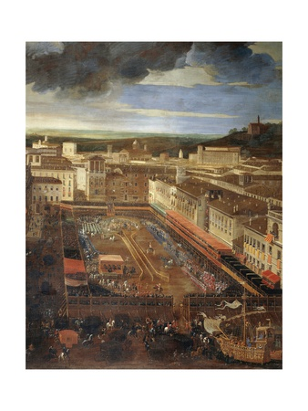 Saracen Joust in Piazza Navona, February 25, 1634 Giclee Print by Andrea Sacchi