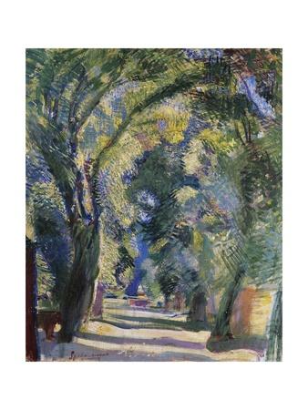 Viale Di Villa Borghese, 1912-1913 Giclee Print by Armando Spadini