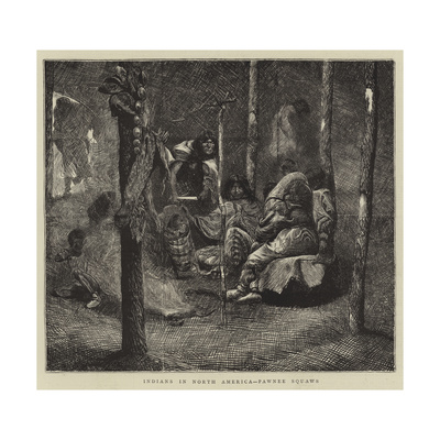 Indians in North America, Pawnee Squaws Giclee Print by Arthur Boyd Houghton