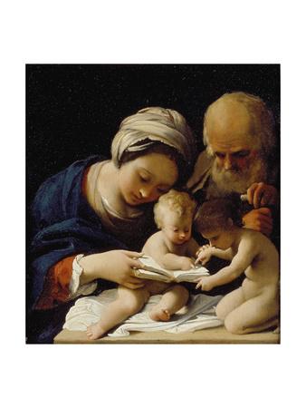 The Holy Family with the Young St John the Baptist Lámina giclée por Bartolomeo Schedoni