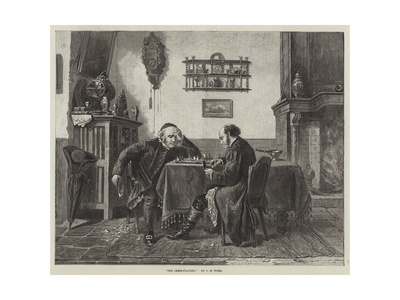 The Chess-Players Giclee Print by Charles Meer Webb