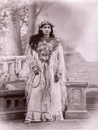 Tahitian Dancer, Tahiti, Late 1800s Photographic Print by Charles Gustave Spitz