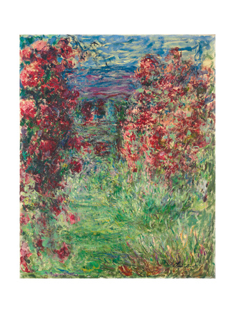 The House at Giverny under the Roses; La Maison Dans Les Roses, 1925 Giclee Print by Claude Monet