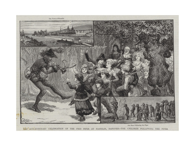 The Sexcentenary Celebration of the Pied Piper at Hamelin Giclee Print by Charles J. Staniland