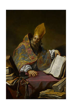 St. Ambrose, C.1623-25 Giclee Print by Claude Vignon
